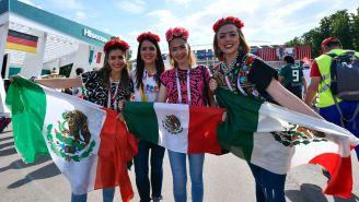Aficionadas mexicanas, durante el juego frente a Alemania