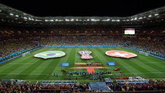 Rostov Arena en el partido entre Brasil y Suiza