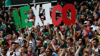 Aficionados de México alientan al Tri en el duelo contra Alemania
