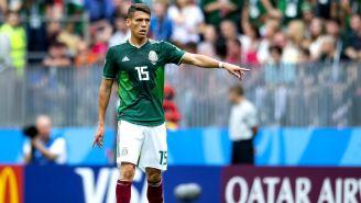 Héctor Moreno, durante el duelo contra Alemania