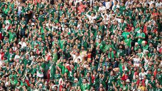 Aficionados de México durante el partido frente a Alemania