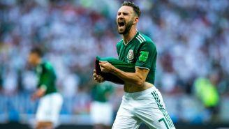 Miguel Layún lamenta una jugada en el duelo contra Alemania