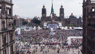 Vista panorámica del Zócalo durante el Cora-México