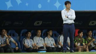 Shin Tae-Yong, durante el partido contra México