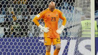 Willy Caballero se lamenta tras error en juego vs Croacia