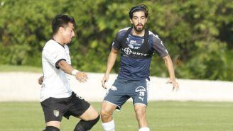 Rodolfo Pizarro, en el juego de pretemporada contra Venados