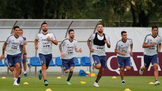 La Selección de Argentina entrena rumbo al juego contra Nigeria