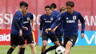 Jugadores de Japón entrenan previo al duelo contra Senegal