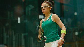 Paola Longoria en un partido de Racquetbol