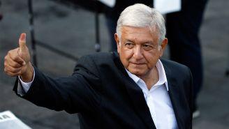 Andrés Manuel López Obrador, tras votar en las Elecciones 2018
