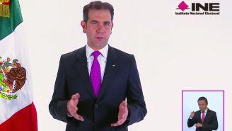 Lorenzo Córdova Villalobos durante su mensaje