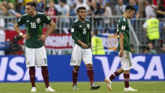 Selección Mexicana al término de su partido contra Brasil