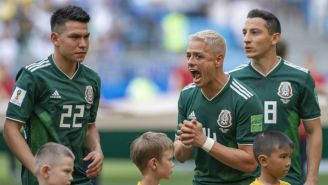 Hernández lanza un grito antes del juego vs Brasil