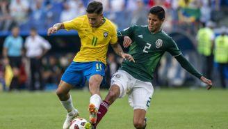 Coutinho y Ayala en una jugada durante el partido