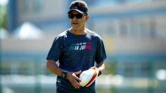 Osorio, en un entrenamiento con el Tri