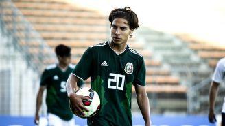 Diego Lainez, durante el Torneo Esperanzas de Toulon