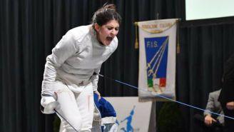 Paola Pliego, durante el Campeonato Absoluto de Esgrima en Italia