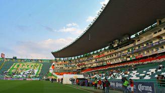 Estadio de León previo a partido de la Liga MX
