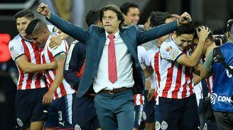 Almeyda celebra una victoria con Chivas