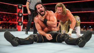 Seth Rollins en una lucha contra Dolph Ziggler