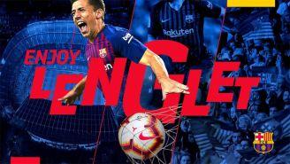 Con esta imagen, Barcelona anunció la llegada de Lenglet