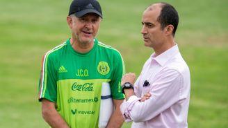 Osorio y Cantu, durante una sesión del Tricolor