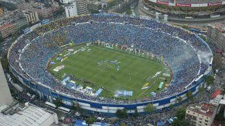 Vista del Estadio Azul desde las alturas