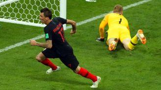 Mario Mandzukic tras marcar el 2-1 contra Inglaterra