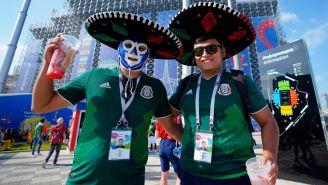 Aficionados mexicanos, durante un partido en Rusia 2018