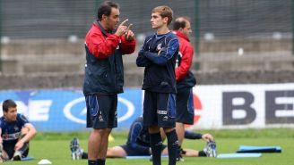 Lasarte y Griezmann, en su etapa en la Real Sociedad