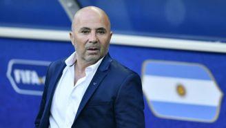 Jorge Sampaoli, en el juego entre Argentina e Islandia en Rusia 2018