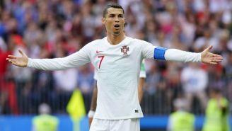 CR7 se queja en el juego entre Portugal y Marruecos en Rusia 2018