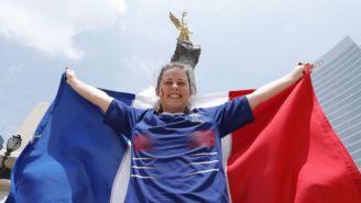 Aficionada francesa celebra en el Ángel