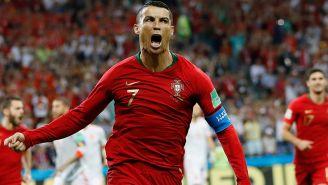 CR7 celebra un gol en Rusia 2018