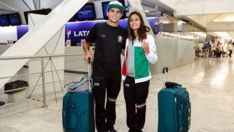 Ivan García y Paola Espinosa previo a su arribo a Colombia