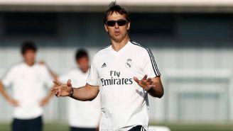 Julen Lopetegui, durante su primer entrenamiento con el Real Madrid