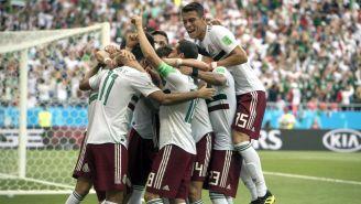 Selección Mexicana, celebra luego de anotar frente a Corea del Sur