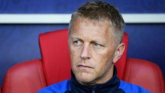 Hallgrímsson después de un partido de Islandia