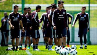 México entrena durante el Mundial de Rusia 2018
