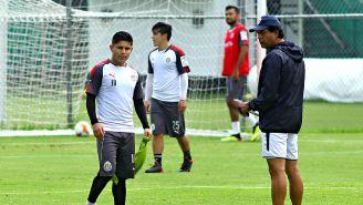 Eduardo López y Cardozo, durante un entrenamiento de Chivas