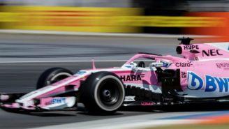 Sergio Pérez en su monoplaza en el GP de Alemania