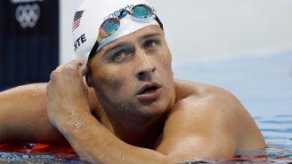Ryan Lochte tras una competencia en los Juegos Olímpicos de Río