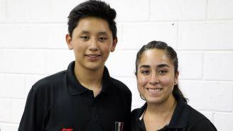 Edson Ramírez y Gabriela Martínez al conquistar el Oro en rifle