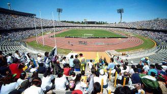 Estadio Olímpico Universitario en un partido de Pumas