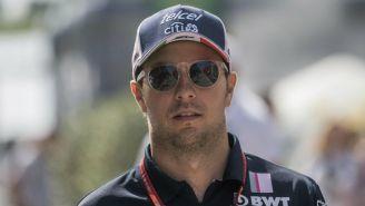 Sergio Pérez, durante el GP de Hungría