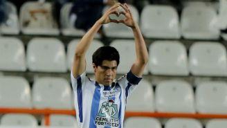 Erick Gutiérrez festeja un gol con Tuzos en el C2018