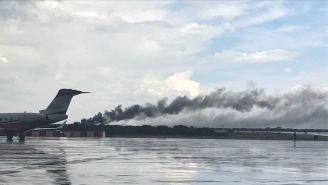 Un avión de Aeroméxico se desplomó a minutos de su despegue