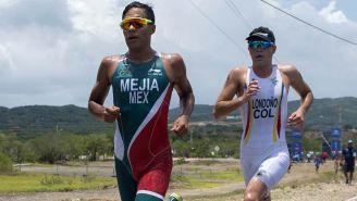 Edgar Mejía durante la competencia en Barranquilla