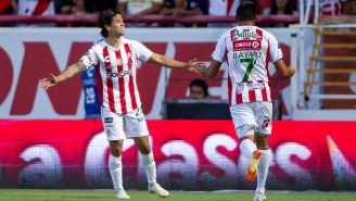 Necaxa celebra gol contra América en la J1