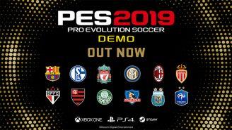 El demo de PES 2019 ya está disponible